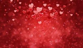 Szczęśliwej walentynki ` s dnia karty kolorowi serca dla tła Obraz Royalty Free