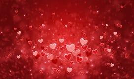 Szczęśliwej walentynki ` s dnia karty kolorowi serca dla tła Fotografia Royalty Free