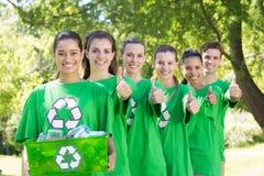 Szczęśliwi środowiskowi aktywiści w parku Obraz Royalty Free