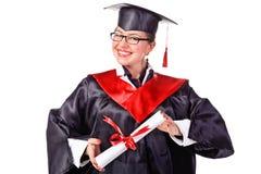 szczęśliwi absolwentów potomstwa Zdjęcia Royalty Free