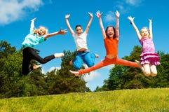 Szczęśliwi aktywni dzieci Zdjęcie Stock