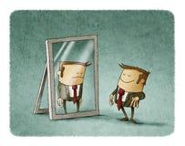 Szczęśliwi biznesmenów spojrzenia odbijali smutnego Obrazy Stock