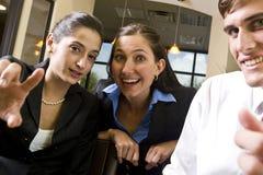 szczęśliwi biznesowi koledzy obrazy stock