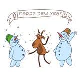 Szczęśliwi boże narodzenia jeleni ilustracji