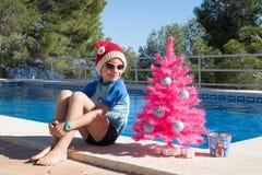 szczęśliwi Boże Narodzenie wakacje  wesołych świąteczną kartkę zdjęcia royalty free