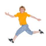 Szczęśliwi chłopiec bieg fotografia stock