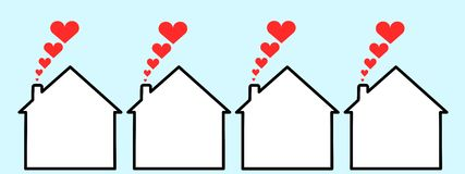 szczęśliwi domy royalty ilustracja