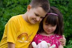 Szczęśliwi dzieci obraz stock