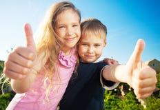 Szczęśliwi dzieci Zdjęcie Stock