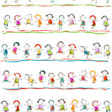 Szczęśliwi dzieci Obrazy Royalty Free