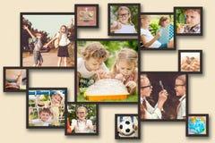 Szczęśliwi dzieci bawić się outdoors przy dnia czasem fotografia stock