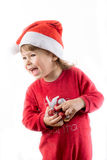 szczęśliwi dzieci boże narodzenia Zdjęcia Royalty Free