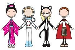 szczęśliwi dzieciaki royalty ilustracja