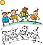 szczęśliwi dzieciaki Zdjęcia Royalty Free