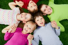 szczęśliwi dzieciaki obraz stock