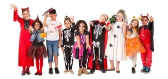 Szczęśliwi dzieciaki w Halloween zdjęcia stock