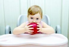 Szczęśliwi dziecko chwyty w jego wręczają granat Fotografia Royalty Free