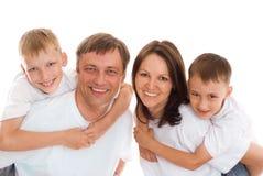 szczęśliwi dziecko rodzice obrazy royalty free