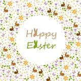 szczęśliwi Easter życzenia ilustracja wektor