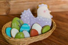 Szczęśliwi Easter ciastka Zdjęcie Royalty Free
