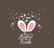 Szczęśliwi Easter królika ucho ilustracji