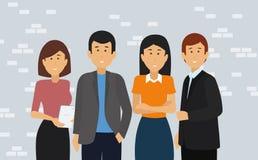 szczęśliwi grup biznesowych ludzie ilustracji