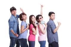Szczęśliwi grupowi podróży ludzie Fotografia Royalty Free