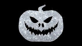 Szczęśliwi Halloween elementu mrugania elementu ikony cząsteczek powitania, zaproszenie, świętowania tło ilustracji
