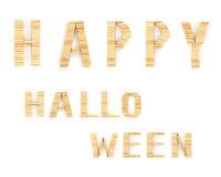 Szczęśliwi Halloween słowa na białym tle Fotografia Stock