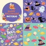 Szczęśliwi Halloween wzory Zdjęcia Stock