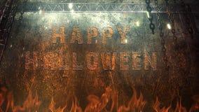 Szczęśliwi Halloweenowi łańcuchy od piekła 4K pętli ilustracja wektor