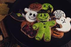 Szczęśliwi Halloweenowi ciastka zdjęcie stock