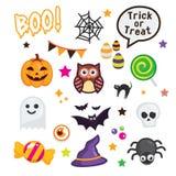 Szczęśliwi Halloweenowi elementy Fotografia Stock
