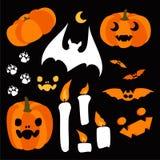 Szczęśliwi Halloweenowi projektów elementy halloween ilustracja wektor