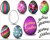 Szczęśliwi i kolorowi Wielkanocni jajka royalty ilustracja