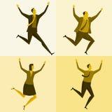 Szczęśliwi i pomyślni biznesmeni Zdjęcie Stock