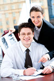 szczęśliwi interesy partnerów Zdjęcie Stock