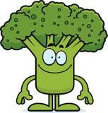 Szczęśliwi kreskówka brokuły ilustracja wektor