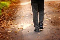 szczęśliwi kroki jesieni Zdjęcie Royalty Free