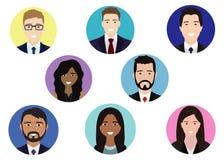 Szczęśliwi ludzie avatar royalty ilustracja