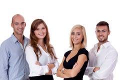 Szczęśliwi ludzie biznes drużyny grupy wpólnie Obrazy Stock