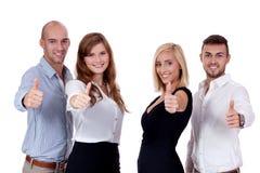 Szczęśliwi ludzie biznes drużyny grupy wpólnie Fotografia Stock