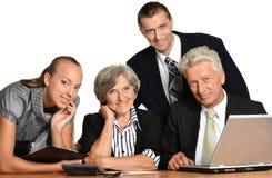 szczęśliwi ludzie biznesu Fotografia Royalty Free