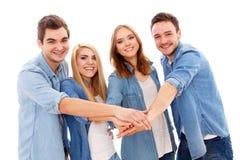 szczęśliwi ludzie grup młodych Obrazy Royalty Free