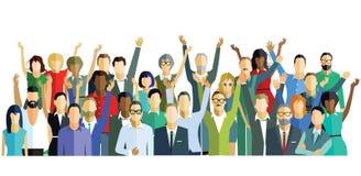 szczęśliwi ludzie grupowe ilustracja wektor