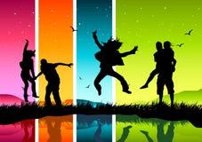 szczęśliwi ludzie młodzi Obraz Stock