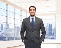 szczęśliwi młodych przedsiębiorców Zdjęcie Stock