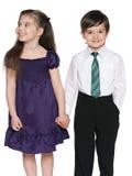Szczęśliwi małe dzieci fotografia royalty free