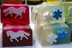Szczęśliwi naturalni mydła dla dzieci 4 Zdjęcia Royalty Free