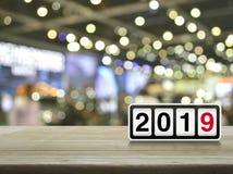 Szczęśliwi 2019 nowego roku okładkowy pojęcie fotografia royalty free